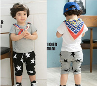 Cheap Leggings & Tights kids clothes Best Unisex Summer Star Printed shorts