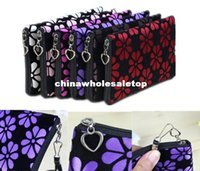 apple cosmetic bags - NEW Women Lady Cute Cosmetic Coin Cellphone Makeup Pouch Bag Printing Wallet