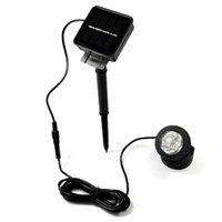 Wholesale Free DHL Outdoor Solar Powered LED Spotlight Garden Pool Waterproof Spot Light Lamp