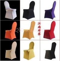 Wholesale 10pcs CCA3326 High Quality Spandex Chair Covers Colors Hotel Supply Banquet Chair Covers For Wedding Decors Home High Elastic Chair Cover