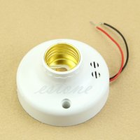 Wholesale E27 Sound Light Control Sensor Base Holder for LED Bulb Energy saving Lamp