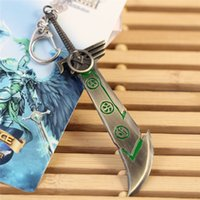 arms weapons - Game LOL Weapon Arms Keychain League of legends Car Key Chain Key Rings Men Women Ring Chain Good Quality