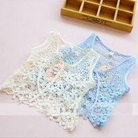 children smock - 2015 Children Fashion Lovely Hollow Out Sleeveless Lace Tops Children Girl Sleeveless Lace Hollow Out Smocks Fashionable Children Top