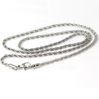 Chains stainless steel necklace clasp - Beadsnice stainless steel necklace jewelry fashion chain necklace with lobster clasp gift for women ID