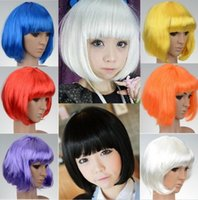 Cheap Cheap!!! Low Price 8 Colors Fashionable BOB Style Short Wig Sliming Face Party Stage Wigs Cosplay,Free Shipping CWYE0399*1