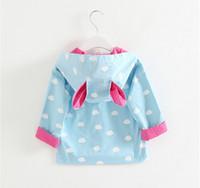 Wholesale Fall new coat Children s children s coat pocket girls dust coat lapel cloud flowers Children s clothing BH1118