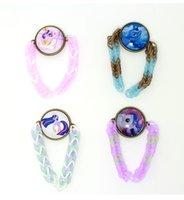 Cheap little pony toy doll bracelet. Hand-woven silicone rubber bands bracelets. Cartoon Time Gemstone Bracelets outlets sale 20pcs B