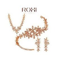 Wholesale 2014 New Fashion women gold Snowflake jewelry sets AAA zircon rose Gold Plated