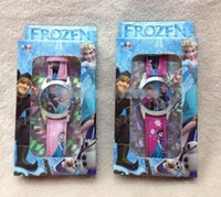 Wholesale Heat sales girls Frozen watches with boxes Snow Queen Wristwatches Princess Anna Elsa wrist watch Christmas best gift