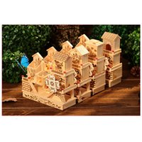 Wholesale 19cm Wood Decor Tower Windmill Music D Miniature Dollhouse Toys Gits Wood Craft