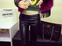 Wholesale 2014 Winter For Women New korean version of Female leggings latest cloth hook flower leggings