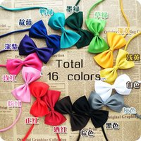 accessories for toy dogs - Candy Bow Tie For Pets Cute Dog Puppy Cat Kitten Toy Kid Bowknot Tie Necktie Collar Clothes