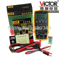 Wholesale VICTOR D Multimeter victor electrician digital Multimeter tester multimeter Capacitance frequency temperature order lt no tr