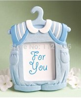 cheap wedding favors baby shower birthday party gift in return blue clothes resin photo frame