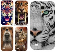 animal skin cells - Freeshipping Animal Pattern Lion Tiger Dog Owl custom printed cell phone case cover skin Shell for Samsung galaxy S4 mini I9190
