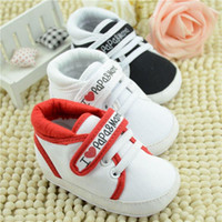 crib shoes - 2015 Fashion Baby Infant I Love Papa Mama Soft sole Crib Walking Shoes Casual First Walker Shoes