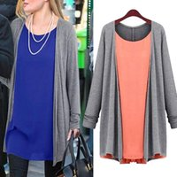 Wholesale Fashion Women Chiffon Cotton Tops Scoop Neck Tee Shirt Plus Size Blouse Long Tunic new Arrival Promotion hv5n