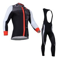 Wholesale New Castelli Cycling Jersey Winter Thermal Fleece Bicycle wear Long Sleeve Bicycle Clothing shirt Bib Pants Bike Wear Padded Trousers
