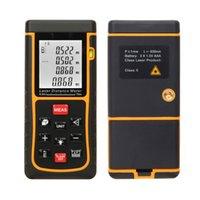 Wholesale Mini Digital Laser Distance Meter Range Finder m ft Measure Distance Area Volume Measure Measurer with Bubble LevelRZE