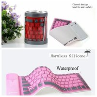 wireless silicone keyboard - Bluetooth keyboard for ISO Android phone Tablet Universal Wireless Bluetooth keyboard waterproof foldable silicone soft keyboard