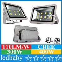 Wholesale Ultra Bright CREE Chip W W Led Flood Lights Outdoor Waterproof Led Floodlights AC V Landscape Lighting Garden Lamps