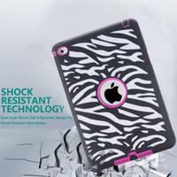 achat en gros de mini-cas zebra ipad-Defender lourd Case laser hybride pour la peau iPad Mini 4 mini4 dur PC + Soft Silicone Combo Sunflower Zebra Vague Polka Dot Elephant Cartoon