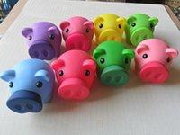Wholesale Cute Piggy Coin Bank Money Bank money box mixed colors mixed