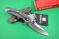 spyderco - Spyderco CT CT156 Brad Southard Flipper folder Knives CTS P Carpenter Steel Blade titanium Carbon Fiber Handle folding knife