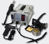 Cheap Free shipping AOYUE 2703A+ 110V   220V Lead-Free Hot Air Soldering Irom Desoldering Gun BGA Rework Station For SMT Rework Repair