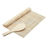 Wholesale Brand new Home DIY Bamboo Material Sushi Rolling Mat and Rice Paddle MTY3