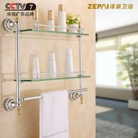 bathroom vanity shelves - Ze faction Continental Shelf gold bathroom glass bathroom towel rack shelving double vanity