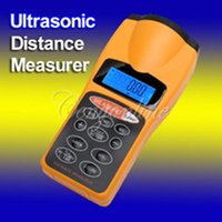 Wholesale Up to LCD Digital Handheld Promotions Ultrasonic Tape Area Volum Laser Meter Pointer Distance Measurer Estimator Range FT