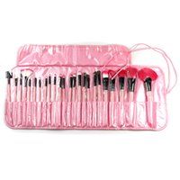 Wholesale Factory Price Professional Makeup Brushes Set Charming Pink Cosmetic Eyeshadow Brushes with Leather Case waitingyou