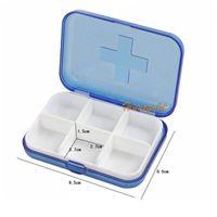 Wholesale Durable Platics Medicine Case Medical Pill Ear Stud Ring Storage Mini Slot Box