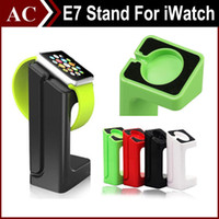 Wholesale E7 Stand Holder For Apple Watch Magnetic Charging Dock Charge Stander For iWatch Rechargeable Colorful Exhibition Stand Charger Base Holder