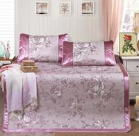 Wholesale comfortable summer ice cool mat meters bedding supplies high grade folding bed mat three sets