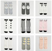 baby children footwear - 3 Sizes Pack Fox Socks Baby Socks Winter Cotton Knee High Socks Children Middle Socks Footwear Baby Leg Warmers Girl Legging Socks