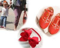 Boy big dance shoes - 2015 new Candy color hollow out single shoes and quot big bowknot head hoop Rivet girls shoes princess grace shoes Dance Shoes yards