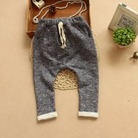 Wholesale Mixed batch nbsp2015 spring new children s clothing solid dyed terry boy harem pants harem pants trousers SY