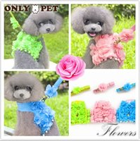 basic fairy - Onlypet Pet Products Supplies Dog Clothes Vest Harness With Leash Flowers Design Handmade Fairy Princess XS XL PC