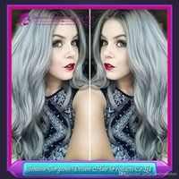 Cheap Hot two tone Grey Ombre Color Brazilian Remy Human Hair Weave 3pcs Lot body wave Weft 2 Tone Color 1b green hair bundles