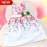 Wholesale girls dresses new fashion summer baby dress baby girl clothes kids flowers cotton dress girls clothes retail bk0521