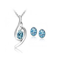 Cheap Wholesale-hottime jewelry   fashion jewelry necklaces pendants earrings + necklace Chinese supplier sets   011005