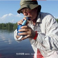 Wholesale 700L New Hot Portable Outdoors Mini Water Filtration Straw Outdoor Camping Life Emergency Straw Water Purification Filter