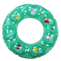 Wholesale High quality Summer Pool Kids swimming ring infloated lifebuoy children colors cartoon inflatable rings swim floating cm Swimming Gear