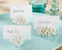 beach theme place cards - new arrive Seas Coral Beach Theme Place Card Holders Wedding Favors