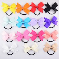 Wholesale New xayakids DIY hairpin Europe and the United States children s hair V rib bow tie ring tail single rib color Tousheng DHL fre