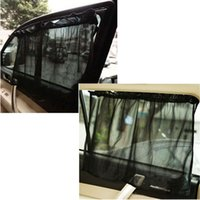 Wholesale 1 Pair Black Car Sun Shade Curtain Suction Cup UV Protection Side Window Curtain