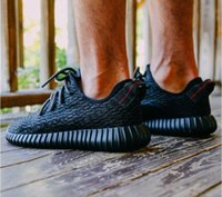 Wholesale Running Shoes BlackYeezy Boost Black Low Outdoor Shoes Sneakers Basketball Shoes Cheap Footwear Shoe Trainers Accepted dropshipping