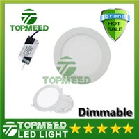 Wholesale Dimmable Round Led Panel Light SMD2835 W W W W W W W V Led Ceiling Recessed down light Led downlight lamp driver